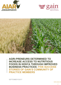 Book Cover: AGRI-PRENEURS DETERMINED TO INCREASE ACCESS